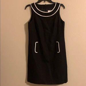 LOFT petites black sheath dress size 8P